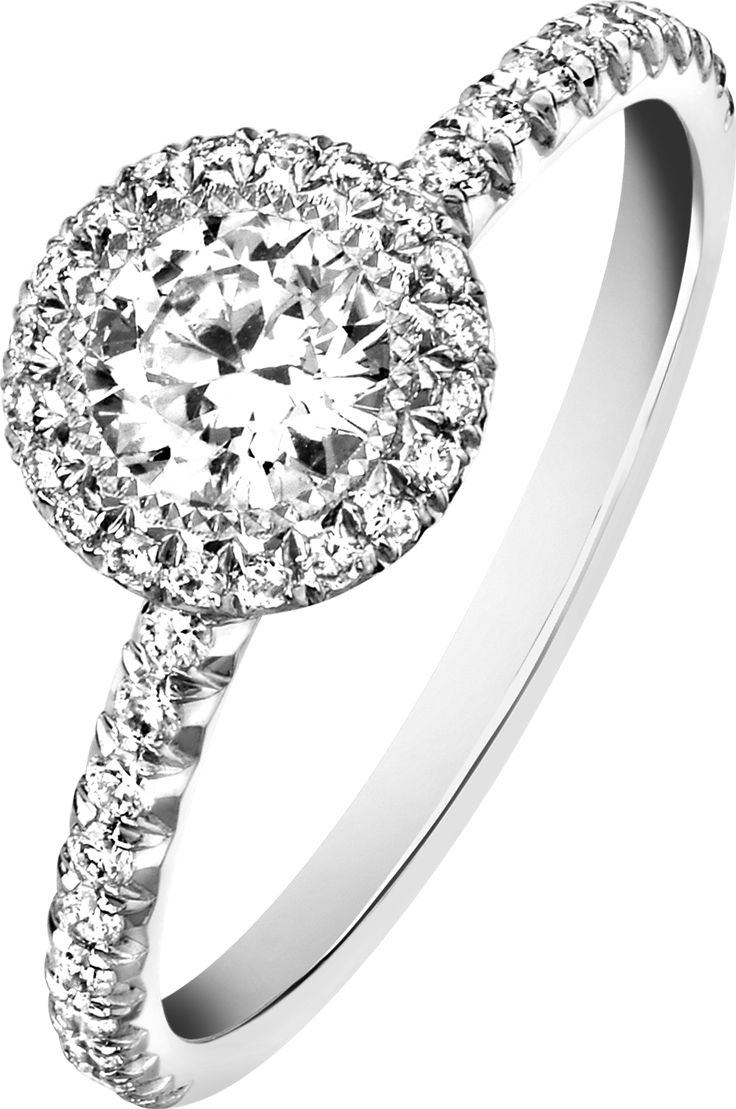 #engagement #ring G34l2a00 In Platinum With Diamonds