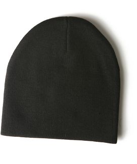 Yupoong-Fine Knit Cap | Knit Beanies : Custom, Blank and Wholesale Beanies $33.48 ($2.79/each), BLACK