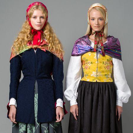 Kvinnebunad 1700-talls fra Gudbrandsdalen.