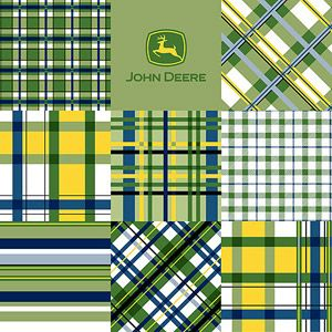 Springs Creative John Deere Plaid Patch Fabric by the Yard  Another John Deere Fabrics for boys over at Walmart Online.