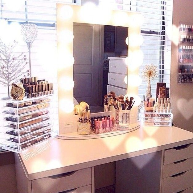 Elegant Makeup Room Checklist & Idea Guide for the best ideas in Beauty  Room decor for your makeup vanity and makeup collection. - 25+ Best Ideas About White Makeup Vanity On Pinterest White