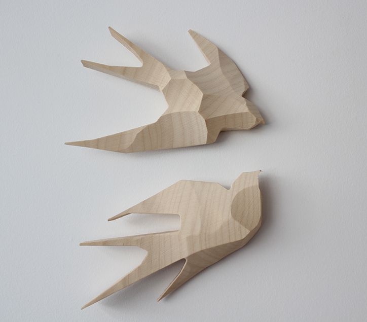 SWALLOWS (wood) by LISLEI www.lislei.com
