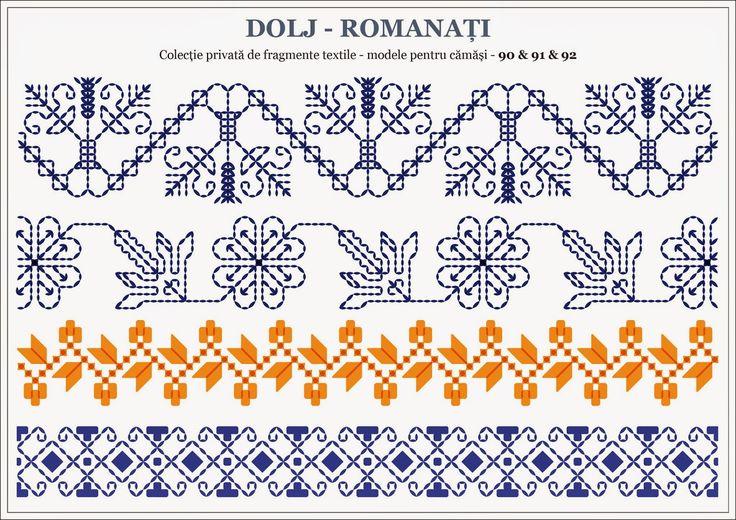Semne Cusute: Romanian traditional motifs - OLTENIA; Dolj - Romanati