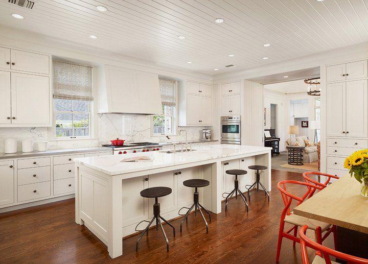 U Shaped Kitchen Layout Island