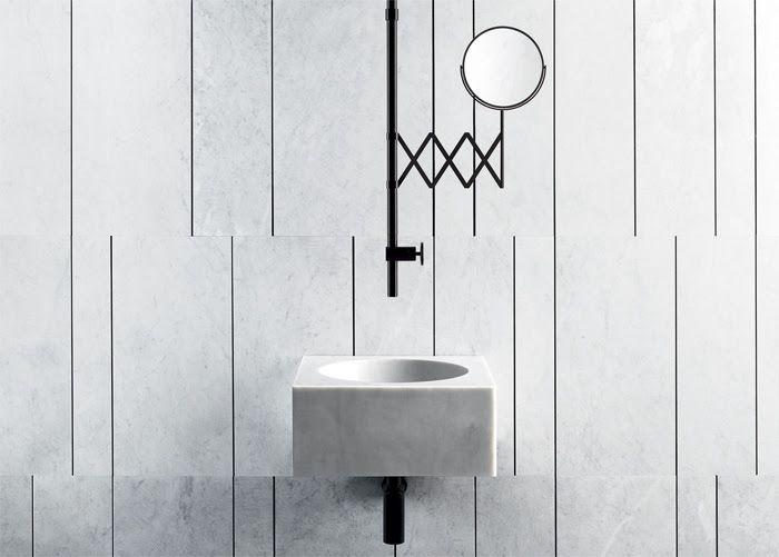 FONTANE BIANCHE Ceiling Mounted Washbasin Mixer Fontane Bianche Collection  By Fantini Rubinetti Design Elisa Ossino