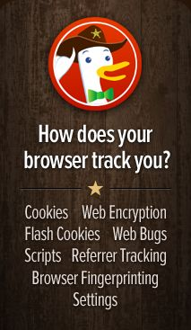 In honor of Data Privacy Day, we've created the first simple tool to help you prevent tracking in your browser. It shows you the various ways you can be tracked and gives free addons for your browser to help prevent them.duckduckgo.tumblr
