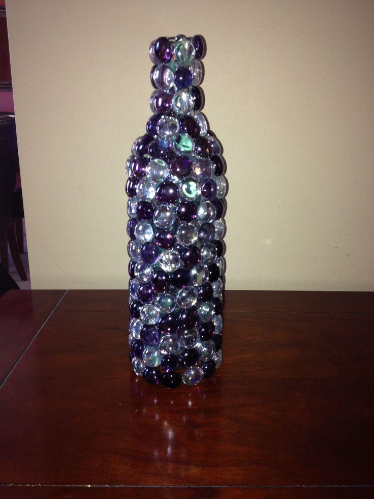 Wine bottle crafts DIY nightlight 198