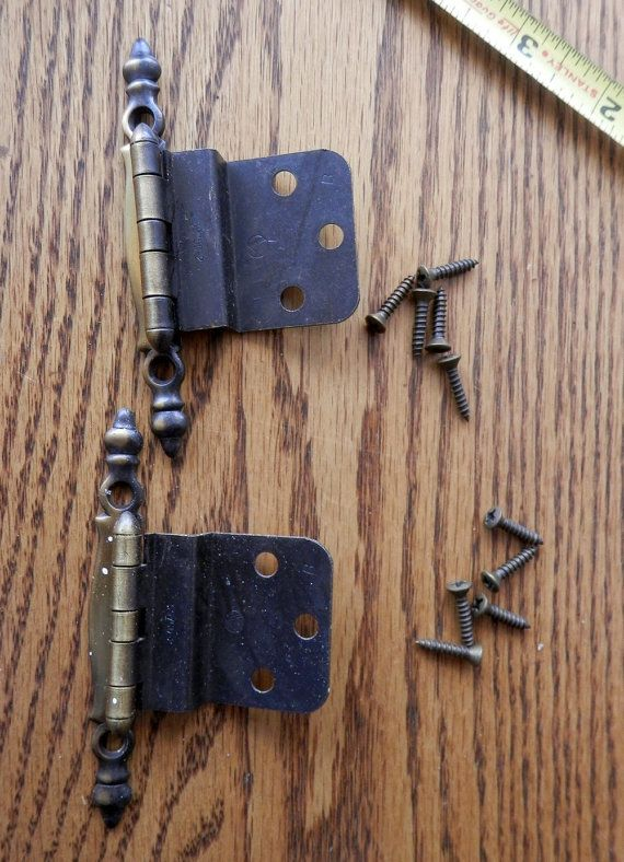 pair of NOS amerock bp-7770-ae 3/8 offset hinges by BandCEmporium