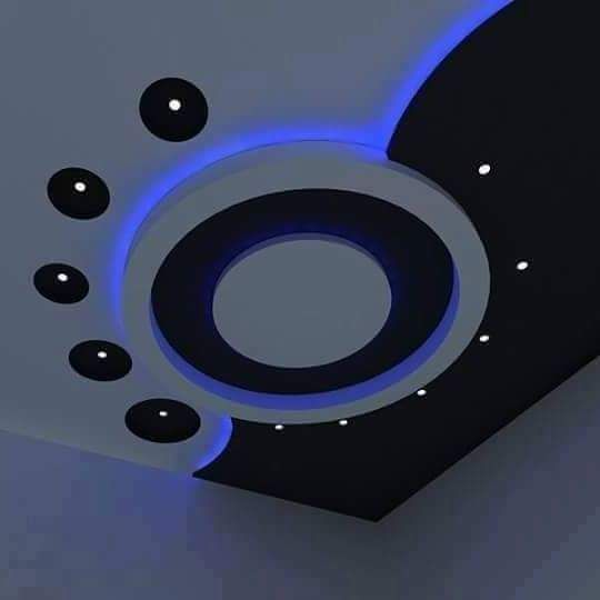 Pop design false ceiling for modern bedroom interior plaster of paris