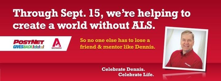PostNet honors onetime franchise owner Dennis Coogle, who bravely battled ALS for five years. Image courtesy of PostNet.: Franchi Owners, Franchis Owners, Onetim Franchis