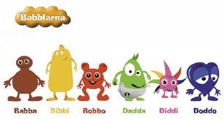 Vi på småbarnsavdelningarna har sett att många barn visat intresse för Babblarna. Därför kommer vi arbeta med detta som tema under läsåret. Vi vill få in matematik, språk & kommunikation, natur & teknik, rörelse och värdegrund.   Om Babblarna:  Babblarna leker med riktigt små barns allra första språkljud. Med sitt enkla uttryck lockar de till tidig tal- och språkutveckling. Att umgås med Babblarna är ett jättebra sätt för barn att komma igång med ljud och tal.