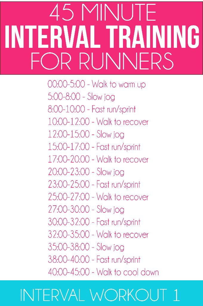 Great Interval Workout For Runners Along With Eight Weeks Of Other