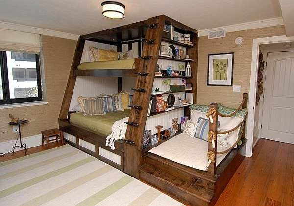 1000 ideas about queen bunk beds on pinterest bunk bed triple bunk and full bunk beds. Black Bedroom Furniture Sets. Home Design Ideas