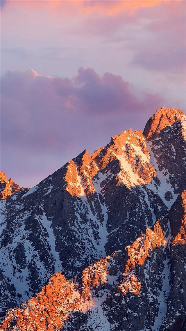 Mac Os Apple Art Background Mountain iPhone 8 Wallpaper