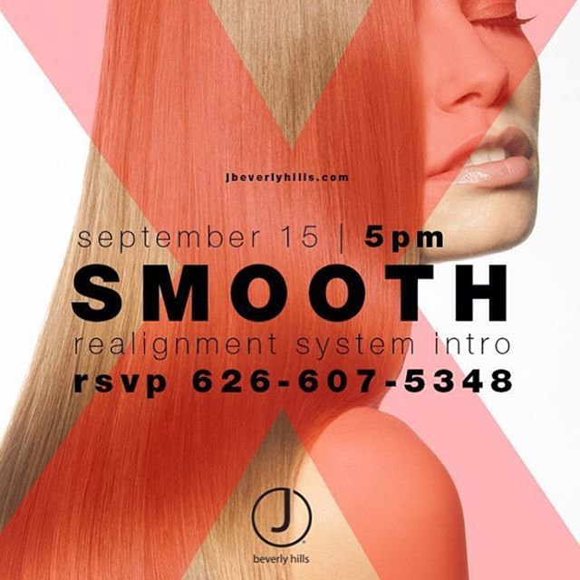 If you're going to be in the LA area September 15th this is one opportunity you'll want to take. Reserve your spot! 1.800.980.0098 #jbeverlyhills #jbhsmooth