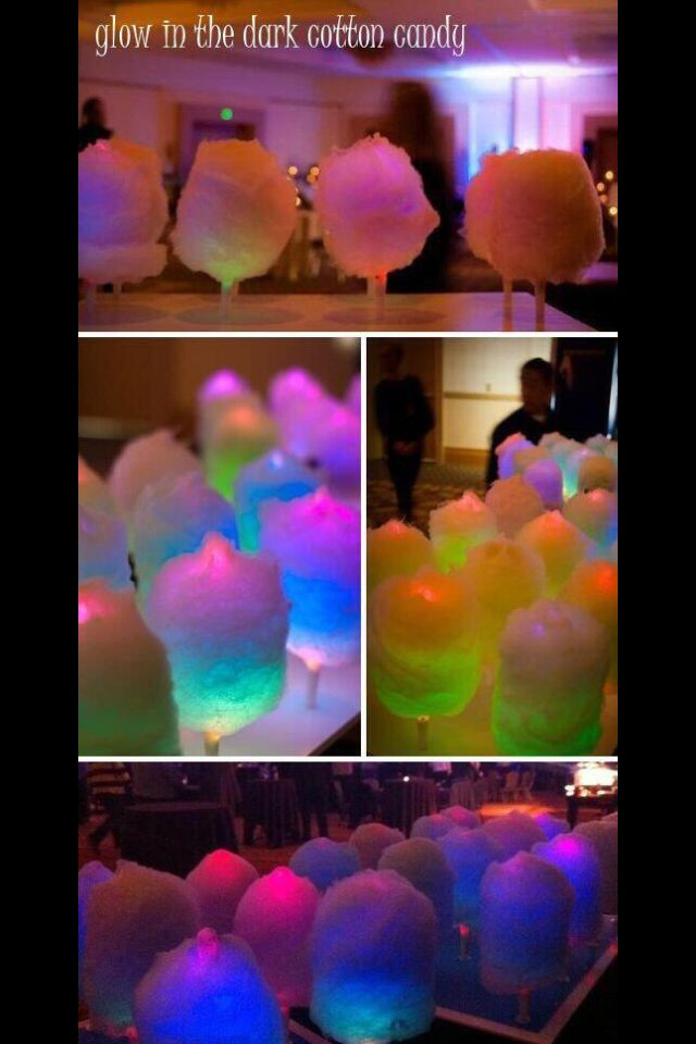 ❤️ Glow in the dark cotton candy (: