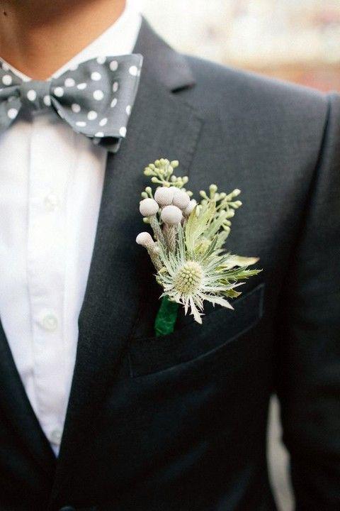 ドットの蝶ネクタイがかわいすぎる! モダンでセンスがいい新郎衣装まとめ。