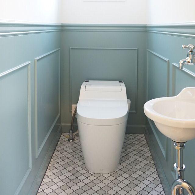 TILE タイル「CORABEL(コラベル)」/////mtokさんの、名古屋モザイク,コラベル,トイレ,腰壁,バス/トイレ,のお部屋写真