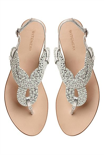#witcherywishlist  Shoes | Australian designer women's shoes - Tia Woven Sandal