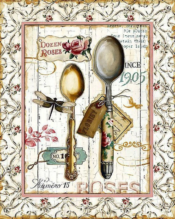 SPOONS DECOUPAGE PRINTABLE