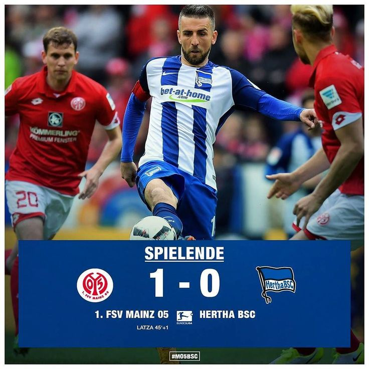 Keine Punkte. Trotz Leistungssteigerung in Halbzeit zwei verliert Hertha BSC mit 0:1 in Mainz. #M05BSC #hahohe