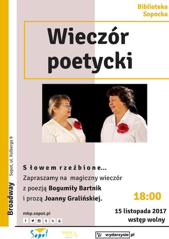 #mbpsopot #bibliotekasopocka #sopot #biblioteka #library #event #poster #plakat #poetry #poezja