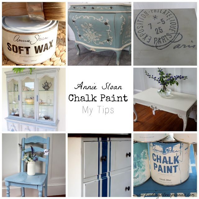 Silver Pennies: Annie Sloan Chalk Paint - tips for painting & waxing