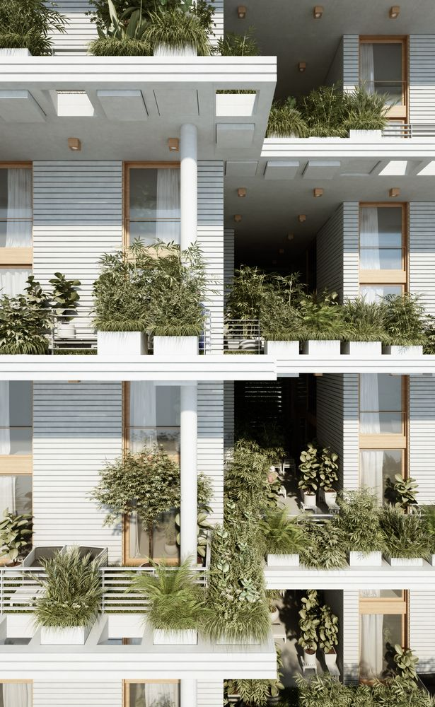 Gallery of Penda Designs Sky Villas with Vertical Gardens for Hyderabad - 22
