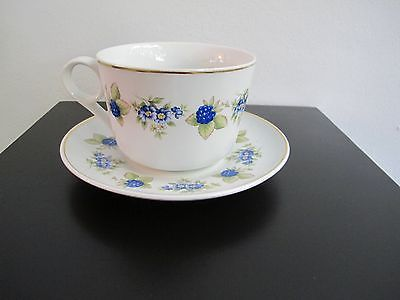 Hungarian-Hollohaza-large-porcelain-cup-and-saucer