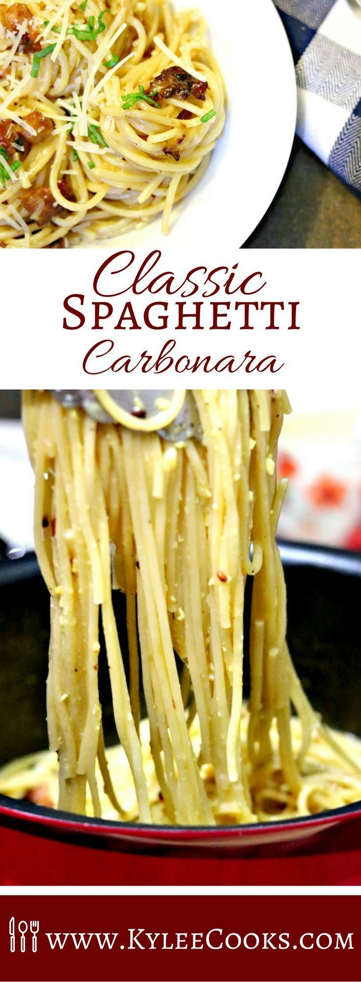 A classic pasta dish using simple ingredients, like a sauce made silky and rich by using eggs, bacon, and parmesan. This Classic Spaghetti Carbonara is comfort food, made right in your own kitchen. /bialettiusa/ #sponsored