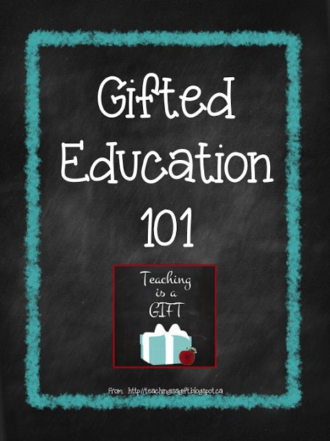 NEW Gifted Education 101:   Part 2 of the series Differentiated Programming in the gifted intensive support program