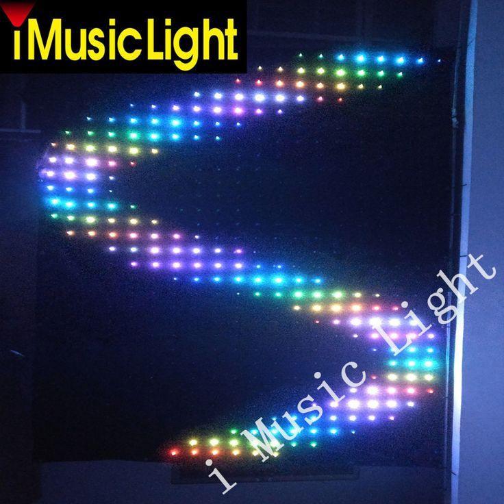 P10 3 mtr x 6 mtr LED Video Curtain Star Cloth Matrix  Backdrop Wedding Stage DJ Pub DMX/PC