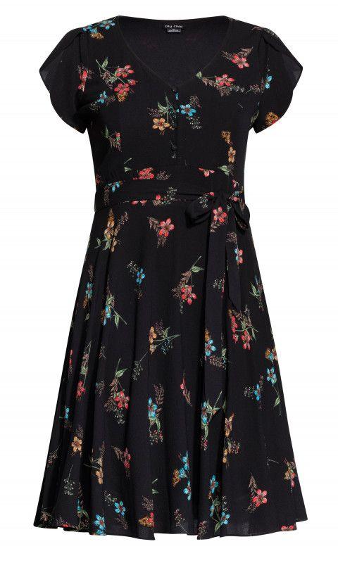 54d7ab978ba Shop Women s Plus Size Botanical Dress - black - Street Style - Collections