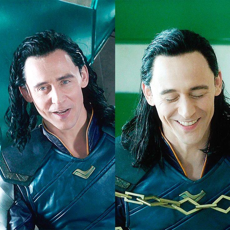 Loki smile vs Tom Smile. #TomHiddleston #Loki #ThorRagnarok #LokiDay #LokiSmile #TomHiddlestonSmile