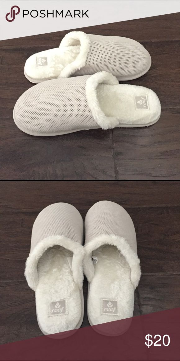 Reef cozy slippers. NWOT! These will make your feet happy. Feels like you're walking on clouds. Reef Shoes Slippers