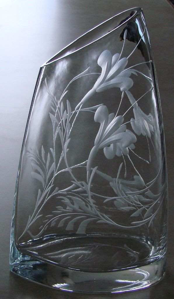 hand engraved crystal by
