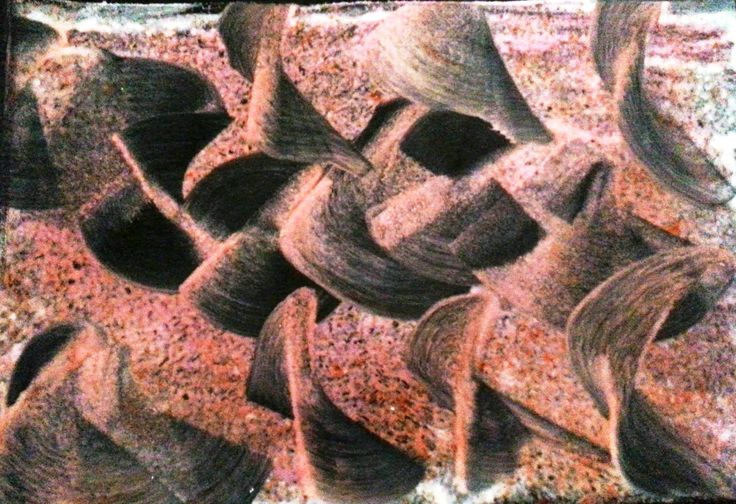 "Encaustic Painting called ""Pipis In The Sand. 40cm x 50cm framed under glass. For sale via my website."
