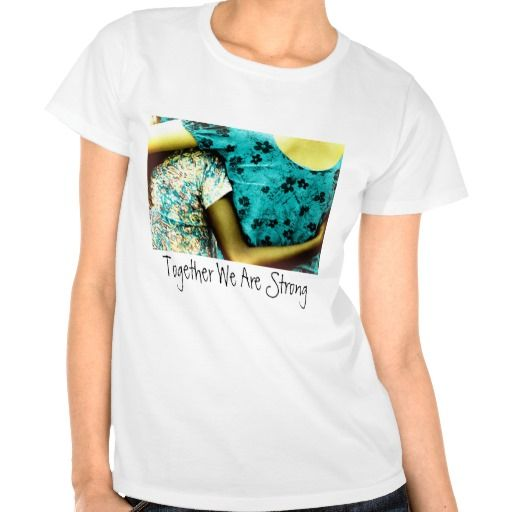 Woman and child, hugging each other. Together We Are Strong! / Women's Basic T-Shirt #fomadesign