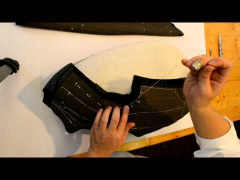 Vest 03, embezzled the front - YouTube A German tailor finishing the making up of the front of a Waistcoat