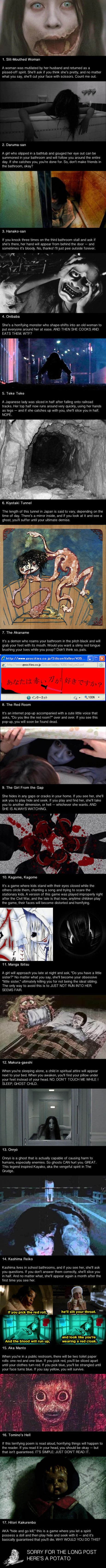 17 Japanese urban legends that will scare you shit your pants