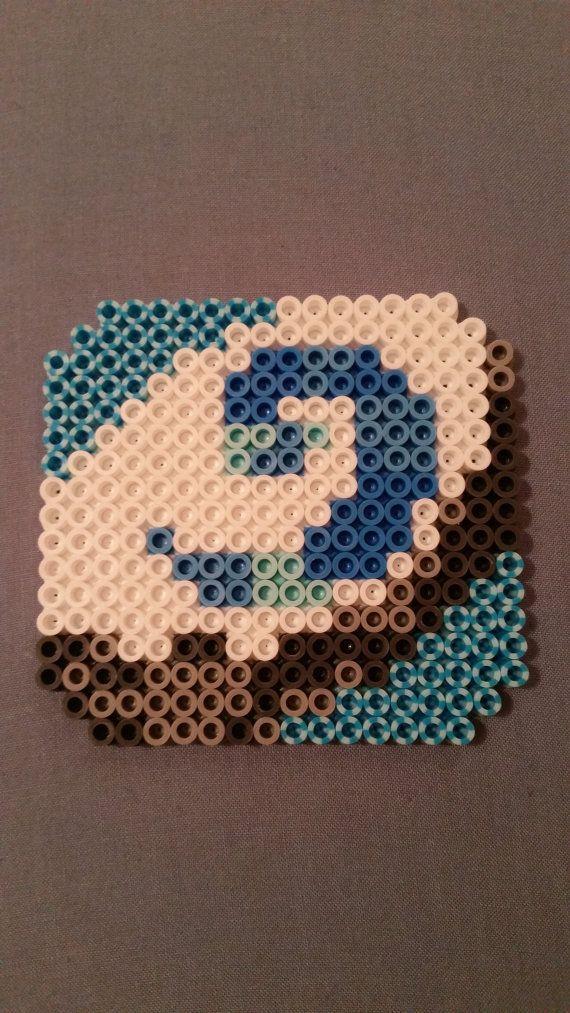 heartstone perler bead coasters