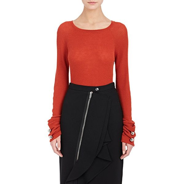 Prabal Gurung Women's Cashmere Sweater ($595) ❤ liked on Polyvore featuring tops, sweaters, pure cashmere sweaters, cashmere crew neck sweater, long tops, crewneck sweater and prabal gurung