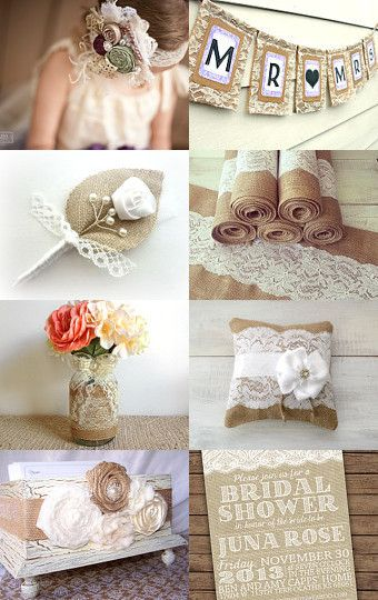 Hmmmm burlap and lace theme? Maybe with navy blue and hints of gold?