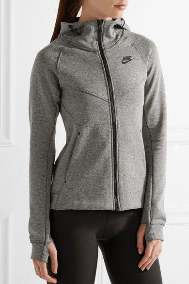 Nike - Tech Fleece Cotton-blend Jersey Hooded Top - Gray - x small