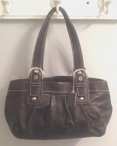 Black Coach Shoulder Bag   eBay