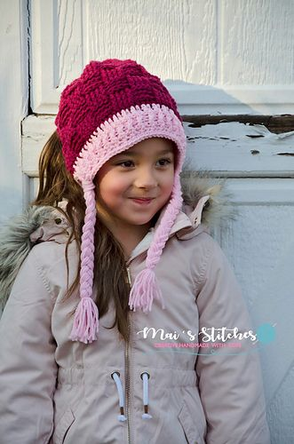 This is a PDF crochet pattern for a super warm and thick ponytail or messy bun hat in multiple sizes. The hole uses an elastic hair tie to stretch over a bun but still stay snug for a ponytail. Keep your hair up and out of the way but still stay warm! This pattern includes options for crocheted ties or braids, or it can be finished off with a regular beanie edging and no ties.