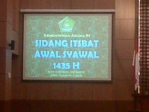 sidang isbat 1435 H / 2014