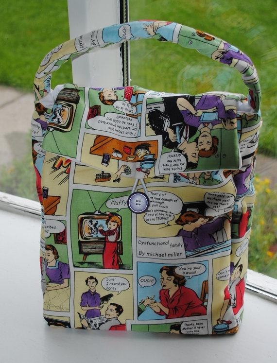 Oversized Reusable Lunch Bag Dysfunctional by OriginalsbyLauren, $22.00