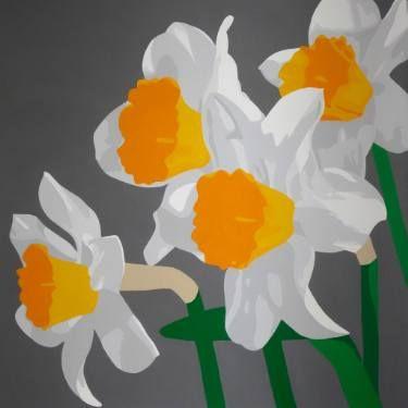 "Saatchi Art Artist Susan Porter; Painting, ""Springtime Daffodils"" #art"