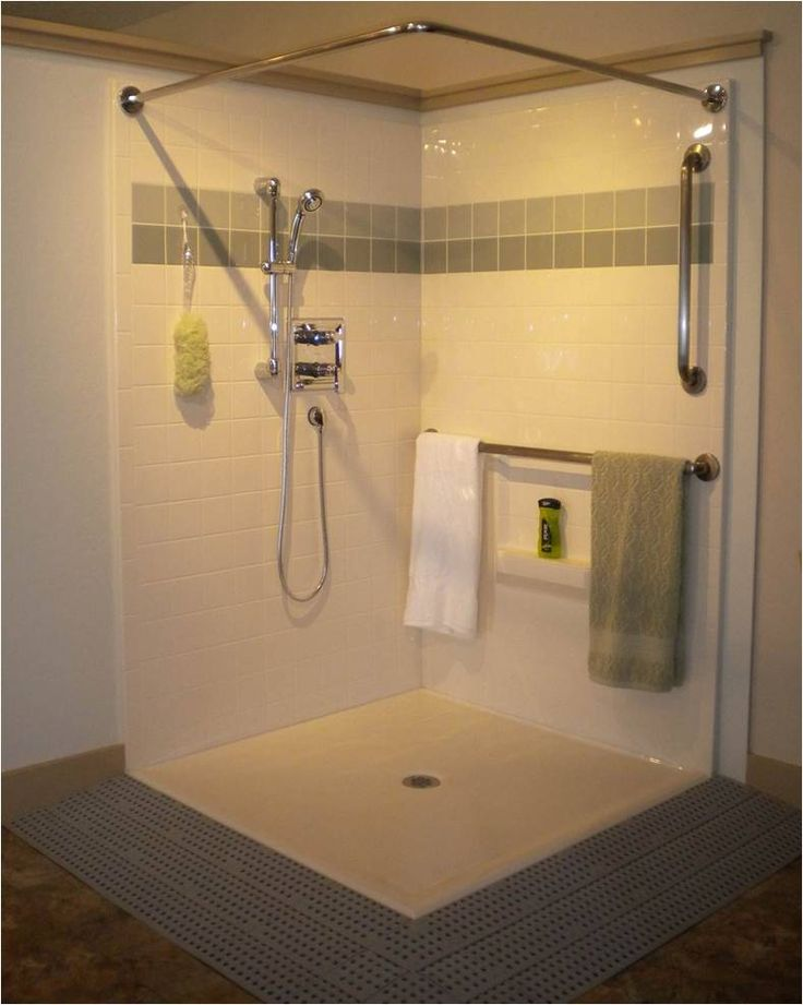 Walk in showers for seniors best bath systems walk in shower surrounds set the standard for Small bathroom remodel for elderly